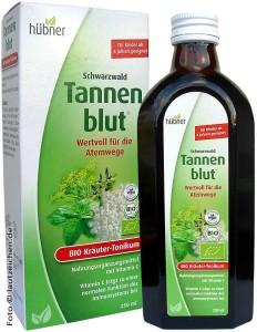 Tannenblut Bio-Tonikum, Flasche und Verpackung